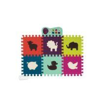 B.Toys Zenélő állatos padló puzzle - színes alaplapokkal