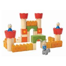 Kastély építő kockák Plan Toys