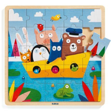 Puzzle - Mackó kapitány - Puzzlo Boat Djeco