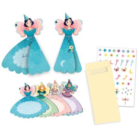 Parti játék - Meghívókártyák - Fairies invitation cards- DJECO