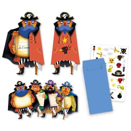 Parti játék - Meghívókártyák - Pirates invitation cards- DJECO