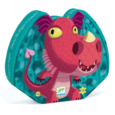 Formadobozos puzzle Edmond a sárkány - Edmond the dragon Djeco