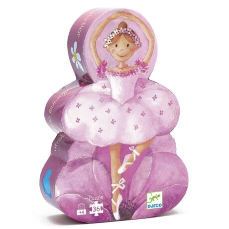 Formadobozos puzzle - Balerina virággal - The ballerina with the flower- DJECO