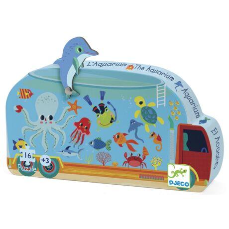 Mini puzzle - Mozgó akvárium - The aquarium- DJECO