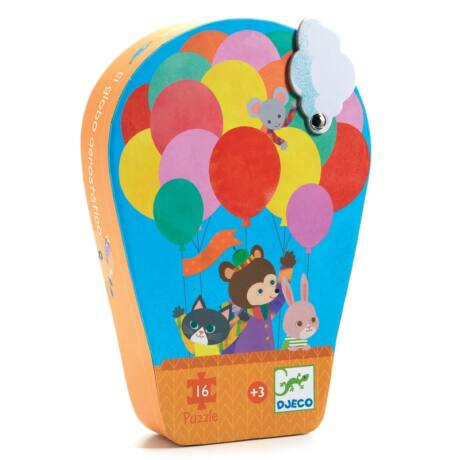 Formadobozos puzzle - The hot air balloon Djeco