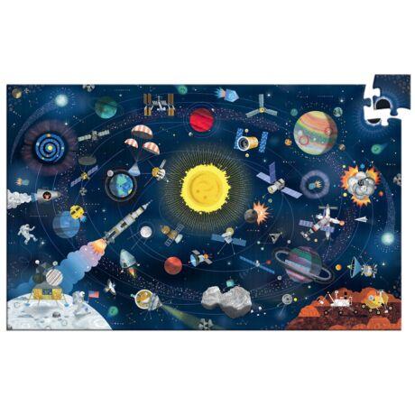 Megfigyeltető puzzle A vílágűr - The space + booklet Djeco