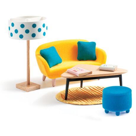 A sárga nappali - The orange living room - DJECO