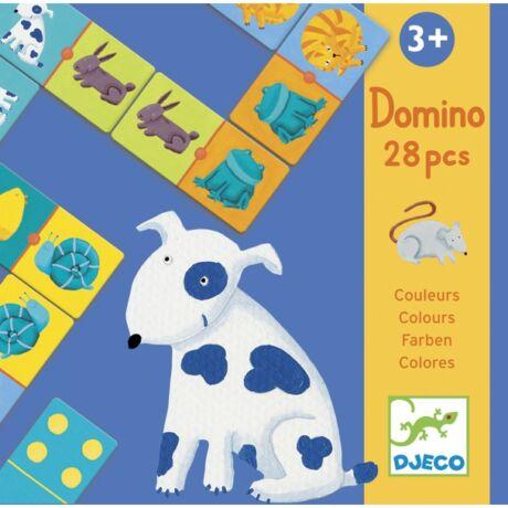 Domino játék - Színes állatok - Colour animals- DJECO