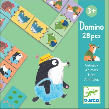 Dominó játék - Állatok - Animals- DJECO