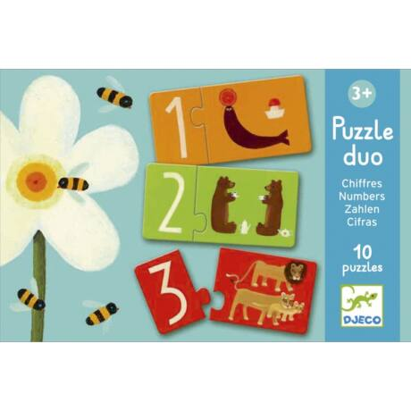 Párosító puzzle - Számok - Numbers- DJECO