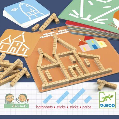 Fejlesztő játék - Mérőrúd-hálózat - Eduludo sticks- DJECO