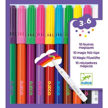 Filctoll készlet -  Mágikus filcek - 10 magic felt-tips- DJECO
