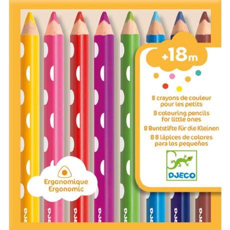 Színes ceruza készlet kicsiknek - 8 colouring pencils for little ones- DJECO