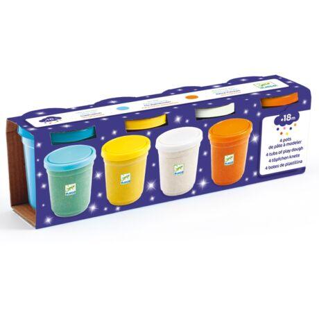 Gyurma - Csillogó pillegyurma - 4 pots of glittery play dough Djeco