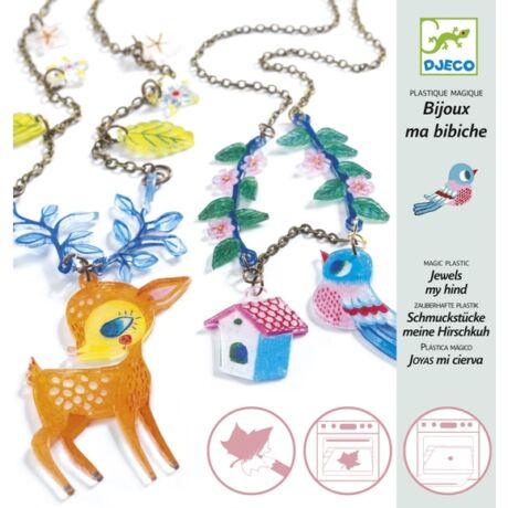 Magic plastic figura készítés - Őzike és kismadár - The Fawn and the Bird- DJECO