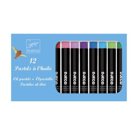 Olajpasztell készlet - 12 klasszikus szín - 12 oil pastels Classic colours- DJECO