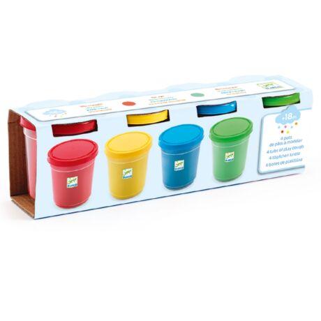 Gyurma - 4 szín pillegyurma - 4 tubs of play dough- DJECO