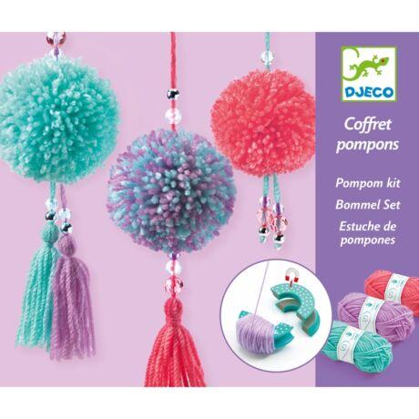 Pompom készítő - Pompom függődísz - Pendant Pompoms Djeco Design by