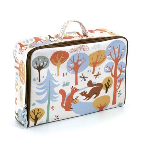 Kis textil bőrönd - Huncut mókusok - Squirrels suitcase