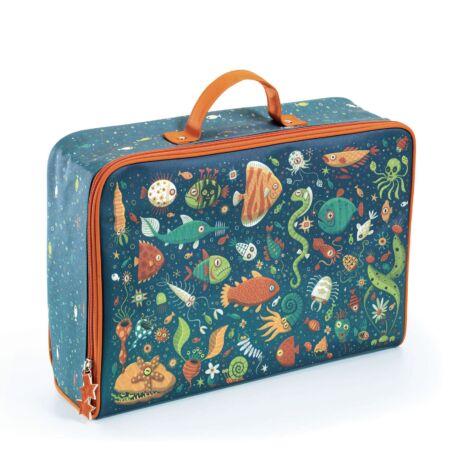 Kis textil bőrönd - Vicces halak - Fishes suitcase