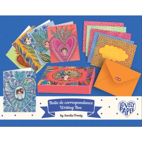 Levelezőlap készlet - Aurelia writing set Djeco Lovely Paper
