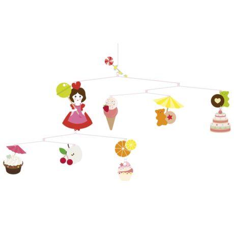 Szélmobil függődísz - Édességek - Sweets- DJECO
