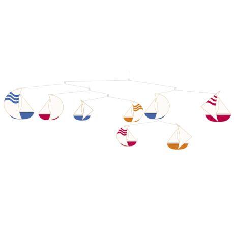 Szélmobil függődísz - Vitorláshajók - Sailboats- DJECO