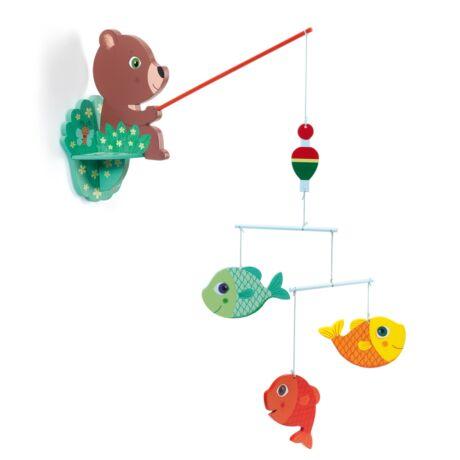 Szélmobil függődísz - Horgászó mackó - Fisherbear Djeco