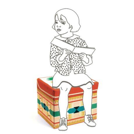 Játéktároló ülőke - Indián - Teepee toy box - Djeco
