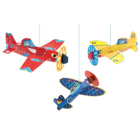 3D-s függődísz - Repülők - Planes Djeco