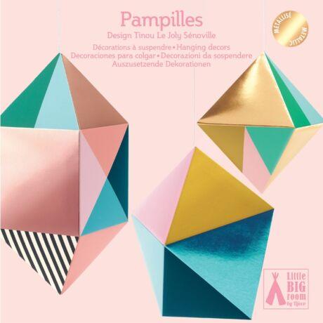3D-s függődísz - Fémes formák - Pampilles- DJECO