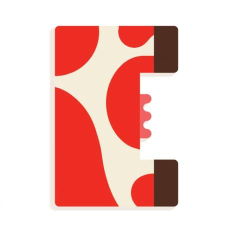 Állatdekor betű - E - Graphic animal letter Djeco