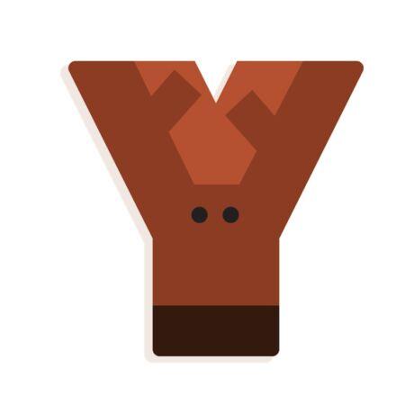 Állatdekor betű - Y - Graphic animal letter Djeco