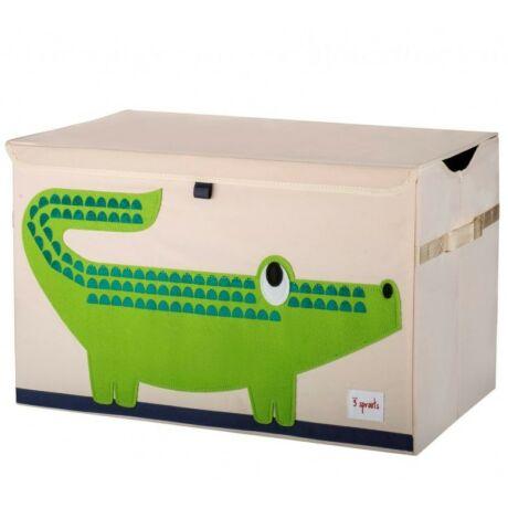 3 Sprouts játéktartó láda krokodil