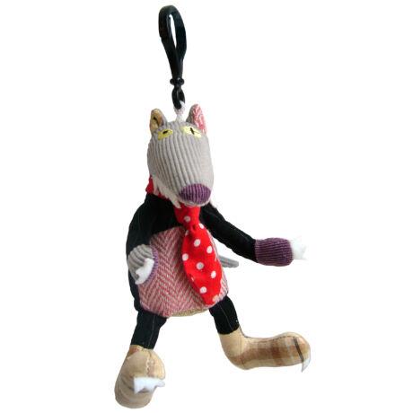 Les Deglingos Mini plüss Kulcstartó BIGBOS - a farkas