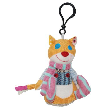 Les Deglingos Mini plüss Kulcstartó RONRONOS - a macska