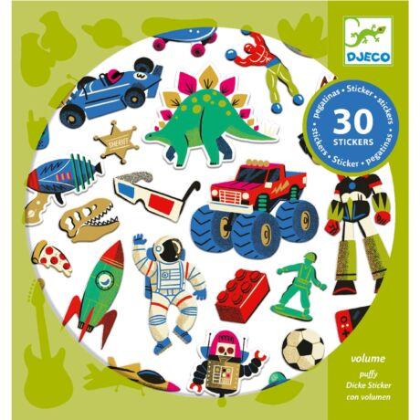 Matrica - Retro játékok - Retro toys Djeco Design by