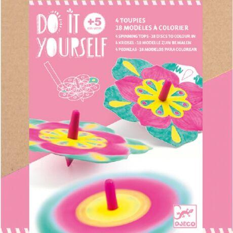 Csináld magad! - Színkeverő pörgettyű - Flowers Djeco Design by