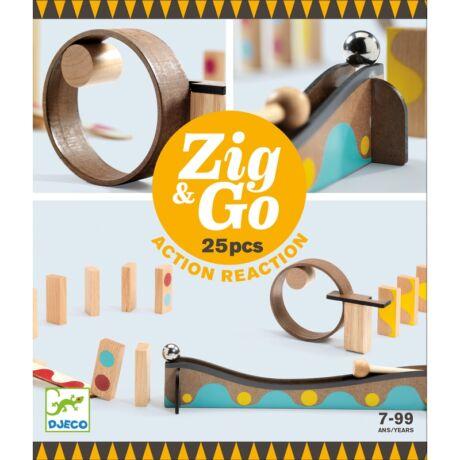 Építőjáték - Zig & Go - 25 db-os Djeco