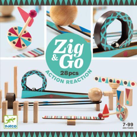 Építőjáték - Zig & Go - 28 db-os Djeco