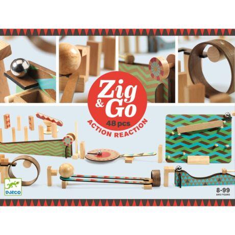 Építőjáték - Zig & Go - 48 db-os Djeco