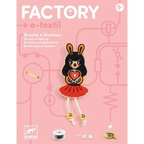 E-textil műhely - Nyuszilány kitűző - Brooch - Bunny girl - Djeco