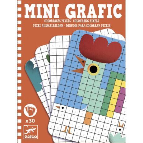 Mini grafika - Pixel színező - Colouring pixels- DJECO