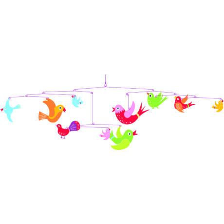 Szélmobil függődísz - Színes madarak - Colourful flight of fancy- DJECO