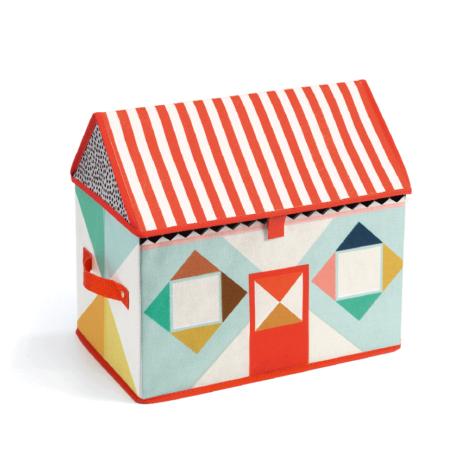 Tárolódoboz - Játékház - House toy box- DJECO