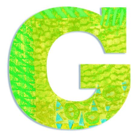 Dekorbetű - G - Peacock letter- DJECO