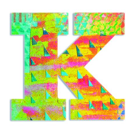 Dekorbetű - K - Peacock letter- DJECO