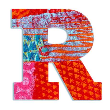Dekorbetű - R - Peacock letter- DJECO