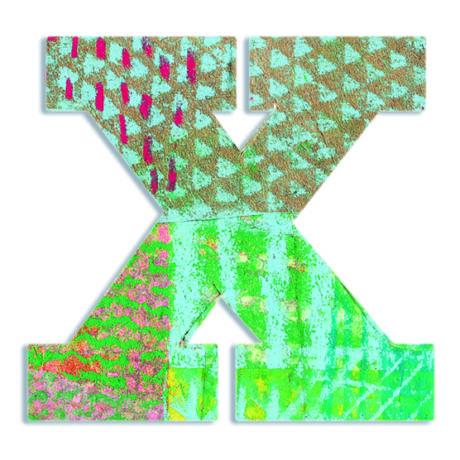 Dekorbetű - X - Peacock letter- DJECO