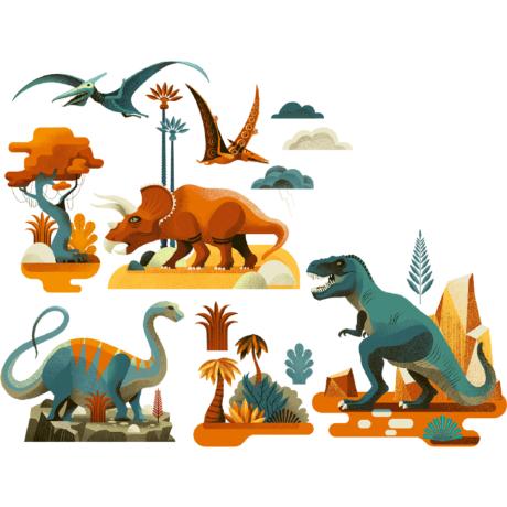 Ablakmatrica - Dinoszaurusz - Dinosaures- DJECO
